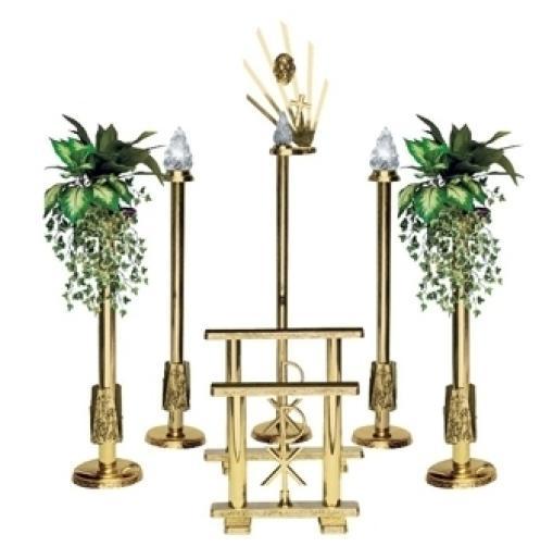 Set candelabri dorati